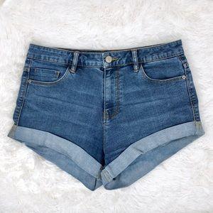 Zara High Waisted Denim Shorts Size 8